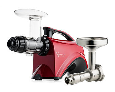 Sana Juicer EUJ-606 rosso + Pressa per olio Sana EUJ-702